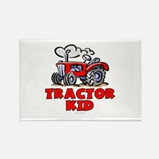 Red Tractor Kid Rectangle Magnet (100 pack)