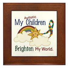 Brighten World 1 (A Children) Framed Tile