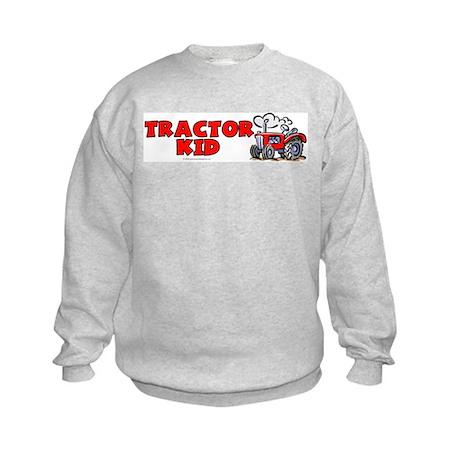 Red Tractor Kid Kids Sweatshirt