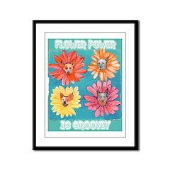 Flower Power Framed Panel Print