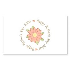 Happy Mother's Day 2009 Peach Flower Decal