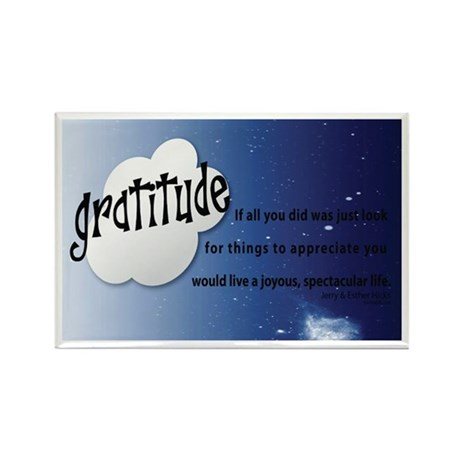 Law of Attraction GRATITUDE Quotation Rectangle Ma