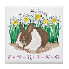 Spring Bunny Tile Coaster