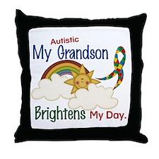 Brighten World 1 (A Grandson) Throw Pillow
