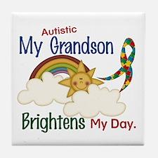 Brighten World 1 (A Grandson) Tile Coaster