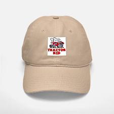 Red Tractor Kid Baseball Baseball Cap