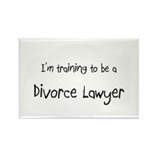 I'm training to be a Divorce Lawyer Rectangle Magn