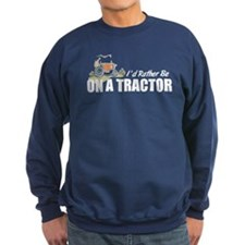 On A Tractor Sweatshirt