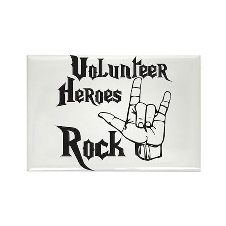 Volunteer Heros Rectangle Magnet