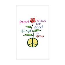 Grow Peace Rectangle Decal