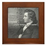 Power of Dreams: Goethe Framed Tile