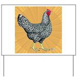 Dominique Chicken Hen Yard Sign