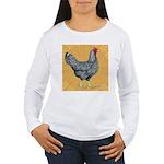 Dominique Chicken Hen Women's Long Sleeve T-Shirt