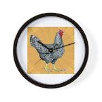 Dominique Chicken Hen Wall Clock