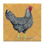 Dominique Chicken Hen Tile Coaster