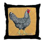 Dominique Chicken Hen Throw Pillow