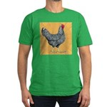 Dominique Chicken Hen Men's Fitted T-Shirt (dark)