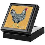 Dominique Chicken Hen Keepsake Box