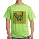 Dominique Chicken Hen Green T-Shirt