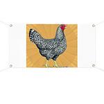 Dominique Chicken Hen Banner