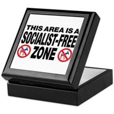 This Area Is A Socialist-Free Zone Keepsake Box