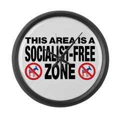 This Area Is A Socialist-Free Zone Large Wall Cloc