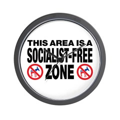This Area Is A Socialist-Free Zone Wall Clock