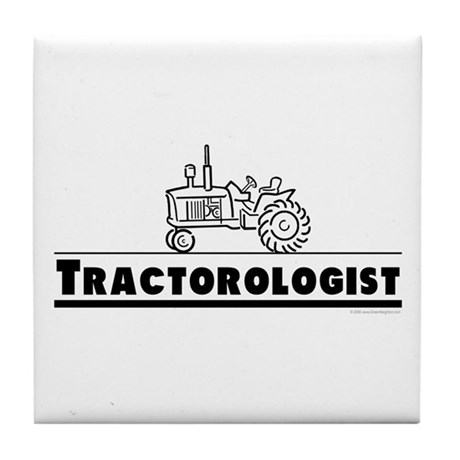 Funny Tractor Tile Coaster