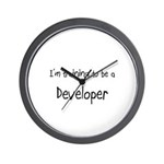 I'm training to be a Developer Wall Clock