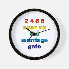 Marriage Gate Wall Clock