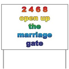 Marriage Gate Yard Sign