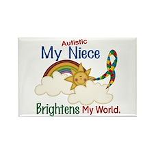 Brighten World 1 (A Niece) Rectangle Magnet