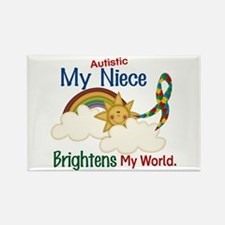Brighten World 1 (A Niece) Rectangle Magnet