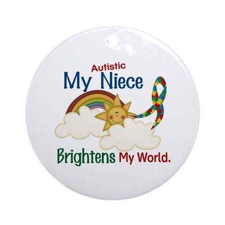 Brighten World 1 (A Niece) Ornament (Round)