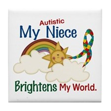 Brighten World 1 (A Niece) Tile Coaster