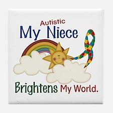 Brighten World 1 (A Niece) Tile Coaster