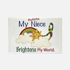 Brighten World 1 (A Niece) Rectangle Magnet (10 pa