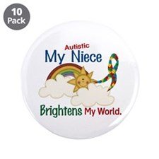 "Brighten World 1 (A Niece) 3.5"" Button (10 pack)"