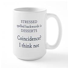 Stressed spelled backwards Mug