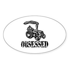 Tractor Obsessed Oval Decal
