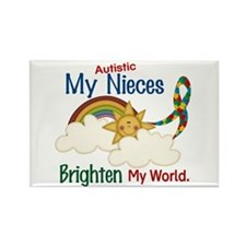 Brighten World 1 (A Nieces) Rectangle Magnet