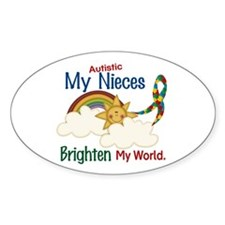 Brighten World 1 (A Nieces) Oval Decal