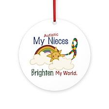 Brighten World 1 (A Nieces) Ornament (Round)