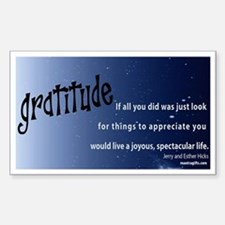 Law of Attraction GRATITUDE Quotation Decal
