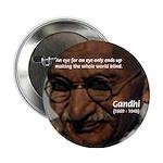 Peace Activist Gandhi Button