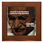 Peace Activist Gandhi Framed Tile