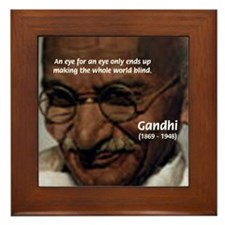 Peace Activist Gandhi Framed Tile