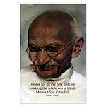 Peace Activist Gandhi Large Poster