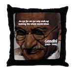 Peace Activist Gandhi Throw Pillow