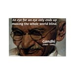 Peace Activist Gandhi Rectangle Magnet